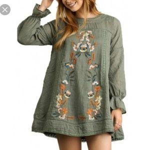 Umgee | Floral Embroidered Boho Dress